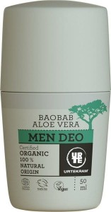 Dezodorant roll-on aloes i baobab men 50ml Urtekram
